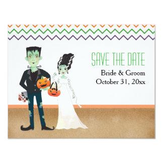 Carte Frankenstein et mariage de Halloween de jeune