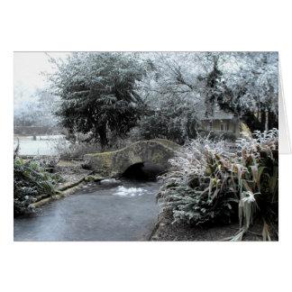 Carte Frost et glace dans un jardin de Somerset