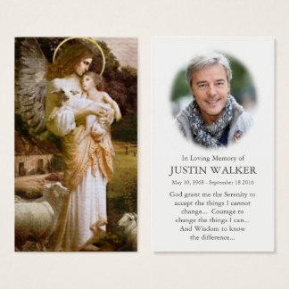 Carte funèbre de prière de sympathie d'ange