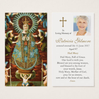 Carte funèbre de prière notre Madame de Lledo