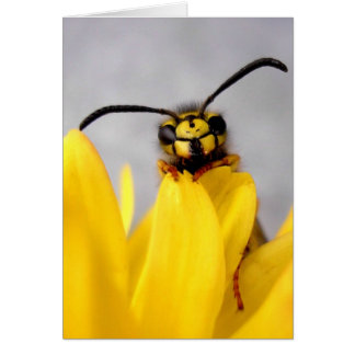 Carte Funny Wasp Greeting Card