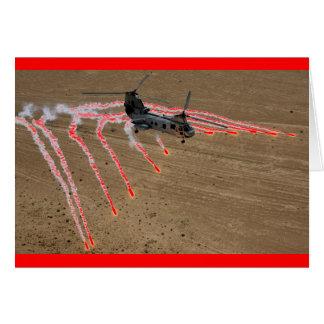 Carte fusées chinook de la chaleur d'hélicoptère