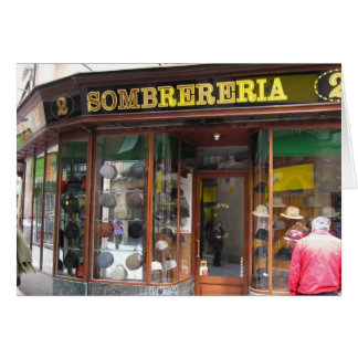 Carte g/nc Barcelone Sombrereria
