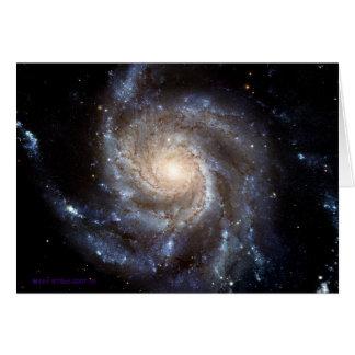 Carte Galaxie en spirale - masquez à l'intérieur