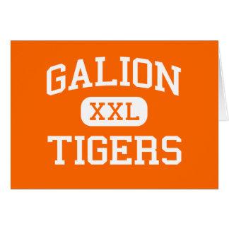 Carte Galion - tigres - lycée de Galion - Galion Ohio