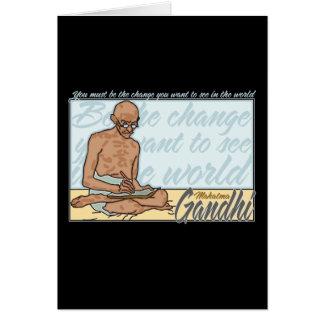 Carte Gandhi soit la citation de changement
