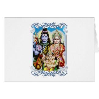 Carte Ganesh, Shiva et Parvati, seigneur Ganesha, Durga