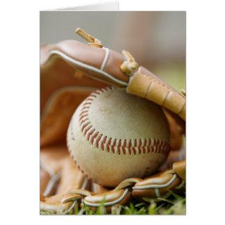 Carte Gant et boule de base-ball