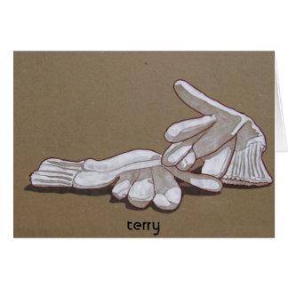 Carte gants, gants, Terry