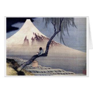 Carte Garçon sur le mont Fuji, Hokusai
