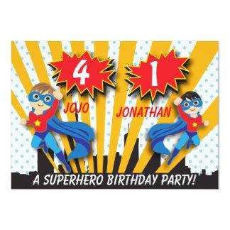Carte Garçons de l'anniversaire   de super héros de