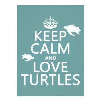 Carte Gardez le calme et aimez les tortues