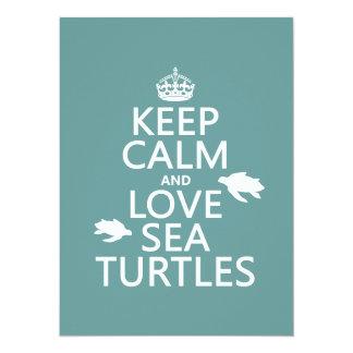 Carte Gardez le calme et aimez les tortues de mer
