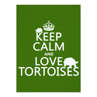 Carte Gardez le calme et aimez les tortues (toute