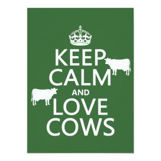 Carte Gardez le calme et aimez les vaches (toutes les