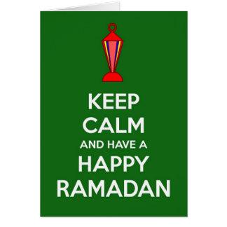 Carte Gardez le calme et ayez Ramadan