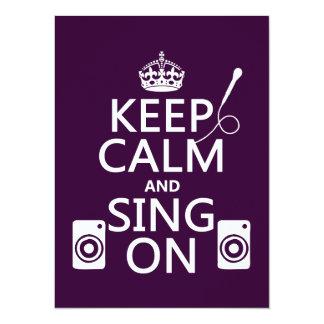 Carte Gardez le calme et chantez sur (le karaoke)