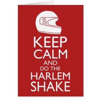 Carte Gardez le calme et la secousse de Harlem