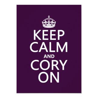 Carte Gardez le calme et le Cory sur (toute couleur)