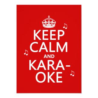 Carte Gardez le calme et le karaoke (la couleur de