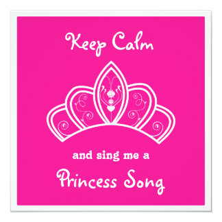 Carte Gardez princesse rose calme Song Karaoke Party