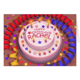 Carte Gâteau d'anniversaire de Rachel