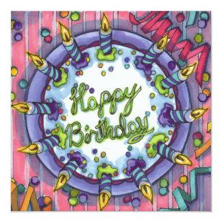 Carte Gâteau de joyeux anniversaire !