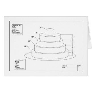 Carte Gâteau de mariage architectural