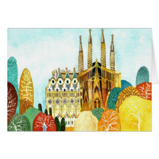 Carte Gaudi 's Barcelone