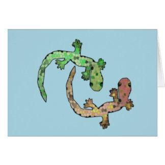 Carte Geckos de mosaïque