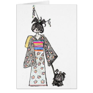 Carte geisha et Oliver