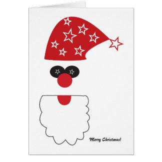 Carte géniale de vacances de Père Noël