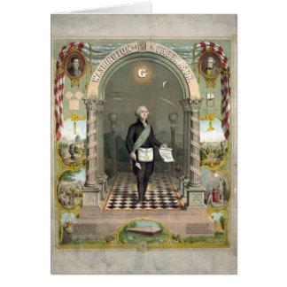 Carte George Washington en tant que franc-maçon