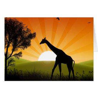 Carte Girafe sur le mouvement