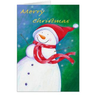 Carte Givré le bonhomme de neige