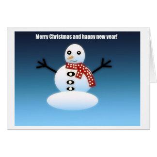 Carte Givré le snowman.