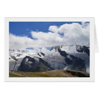 Carte Glaciers dans les alpes suisses