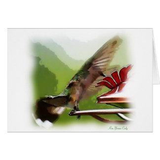 Carte Glissement de colibri