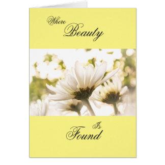 Carte Gloire blanche de chrysanthème