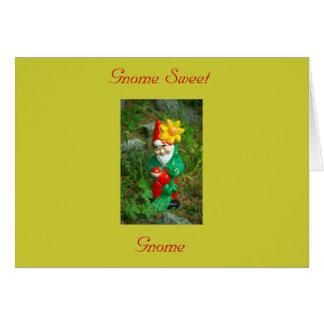 Carte Gnome de bonbon à gnome