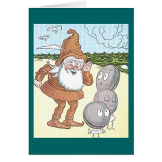 Carte Gnome et 3 palourdes sur la plage