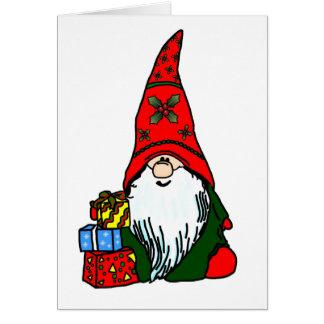 Carte Gnome heureux de vacances
