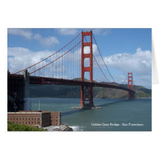 Carte Golden gate bridge San Francisco