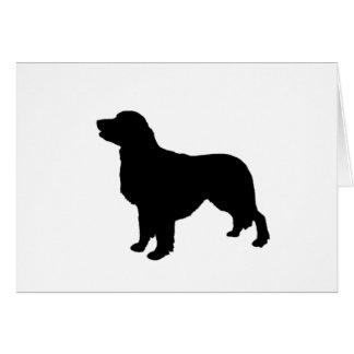 Carte Golden retriever folâtrant la silhouette de chien