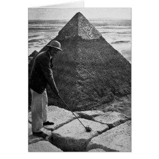 Carte Golf au cru de pyramide noir et blanc