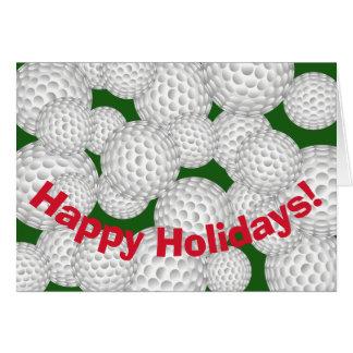 Carte Golf bonnes fêtes