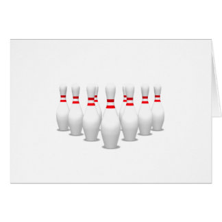 Carte Goupilles de bowling :