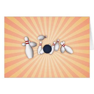 Carte Goupilles de bowling : Dessin de vecteur :