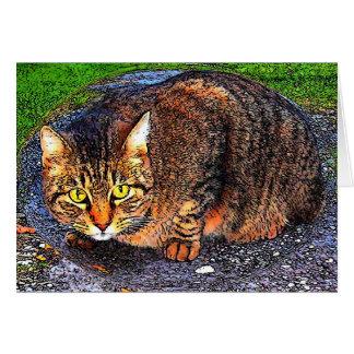 Carte Grand chat tigré