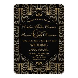 Carte Grand Gatsby épouser vintage d'art déco de